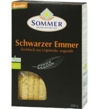 Sommer Schwarzer Emmer Zwieback, 200 gr Packung