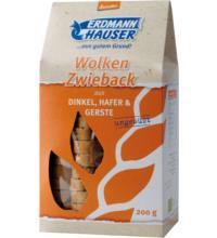 Erdmannh Dinkelzwieback Hafer & Gerste demeter, 200 gr Packung