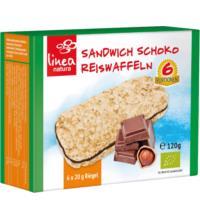 linea natura Sandwich Schoko Reiswaffeln,$ 06 St, 120 gr Packung