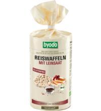 byodo Reiswaffeln mit Leinsaat, 100 gr Packung -glutenfrei-