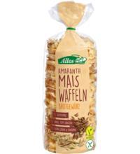 Allos Amaranth-Mais-Waffeln, mit Brotgewürzen, 100 gr Packung