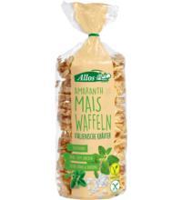 Allos Amaranth-Mais-Waffeln italienische Kräuter, 100 gr Packung -glutenfrei-