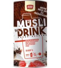 Rosengarten Müsli Shake Kakao-Guarana, 500 gr Packung