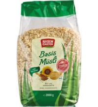 Rosengarten Basis-Müsli mit Amaranth, 2 kg Packung