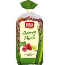 Rosengarten Beeren-Müsli, 750 gr Packung