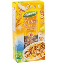 dennree Swiss Crunchy Früchte, 375 gr Packung