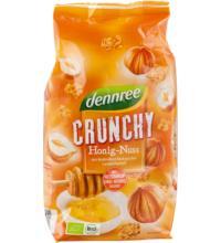 dennree Honig Nuss Crunchy, 375 gr Packung