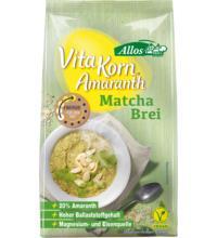 Allos Amaranth Matcha Brei - Vita Korn, 400 gr Packung