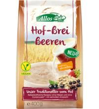 Allos Hof-Brei Beeren mit Amaranth, 400 gr Packung