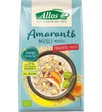 Allos Amaranth Früchte Müsli, 375 gr Packung