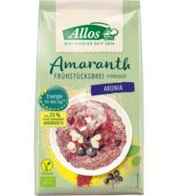 Allos Amaranth Frühstücksbrei Aronia, 400 gr Packung