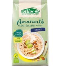 Allos Amaranth Frühstücksbrei Bircher, 400 gr Packung