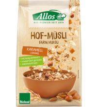 Allos Hof-Müsli Karamell, 375 gr Packung