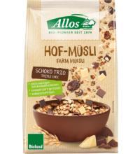 Allos Hof-Müsli Schoko-Trio, 375 gr Packung