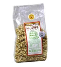 Werz 4-Korn-Vollkorn-Mandel-Crunchy, 250 gr Packung -glutenfrei-