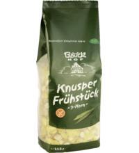 Bauck Hof 3-Korn Knusper Frühstück, 225 gr Packung -glutenfrei-