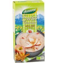 dennree Swiss Porridge Apfel & Zimt, Frühstücksbrei, 400 gr Packung