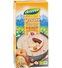 dennree Swiss Porridge Nuss & Frucht, Frühstücksbrei, 400 gr Packung
