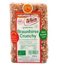 Werz Braunhirse-Crunchy, 250 gr Beutel -glutenfrei-