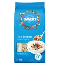 Davert Chia Topping Cranberry-Vanille, 200 gr Packung