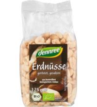 dennree Erdnüsse, geröstet & gesalzen, 125 gr Packung