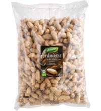 dennree Erdnüsse mit Schale, geröstet, Ägypten, 1 kg Packung