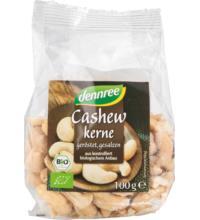 dennree Cashewkerne, geröstet & gesalzen, 100 gr Packung