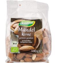 dennree Mandeln, geröstet & gesalzen, Spanien, 100 gr Packung