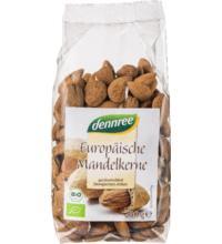 dennree Europäische Mandelkerne, ungeschält, 250 gr Packung