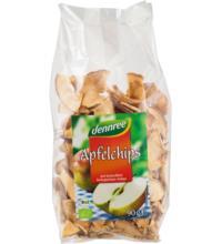 dennree Apfelchips, ungeschält & getrocknet, 90 gr Packung