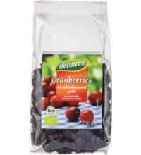 dennree Cranberries,  mit Apfelsüße, Canada, 200 gr Packung