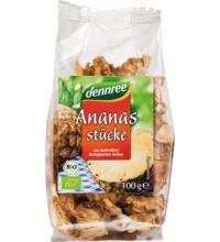 dennree Ananasstücke, Uganda, 100 gr Packung