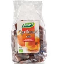 dennree Aprikosen, ganze Frucht, süß, entsteint, Türkei, 500 gr Packung