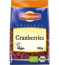 Morgenland Cranberries, mit Apfelsüße, 100 gr Packung