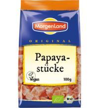 Morgenland Papayastücke, Sri Lanka, 100 gr Packung
