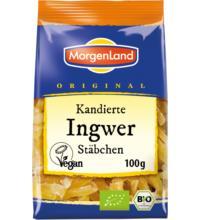 Morgenland Ingwer Stäbchen, kandiert, 100 gr Packung