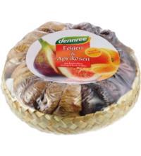 dennree Feigen & Aprikosen im Körbchen, 500 gr Schale verfügbar ab Mitte Oktober