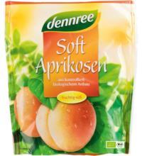 dennree Soft-Aprikosen, süß & entsteint,  200 gr Packung