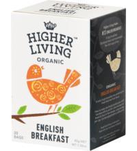 Higher Living English Breakfast, 2,25 gr, 20 Btl Packung