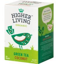 Higher Living Green Tea Coconut, 2 gr, 20 Btl Packung