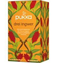 PUKKA Drei Ingwer, 1,8 gr, 20 Btl Packung
