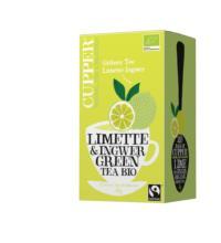 Cupper Grüner Tee Limette & Ingwer, 1,75 gr, 20 Btl Packung