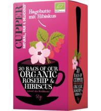 Cupper Hagebutte mit Hibiskus, 2,5 gr, 20 Btl Packung