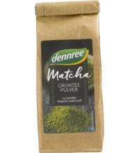 dennree Matcha, Grünteepulver, 30 gr Packung