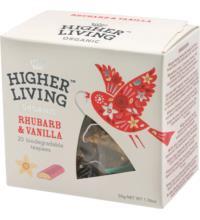 Higher Living Rhubarb & Vanilla, 2,5 gr, 20 Btl Packung