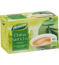 dennree China Sencha Grüntee, 1,5 gr, 20 Btl Packung
