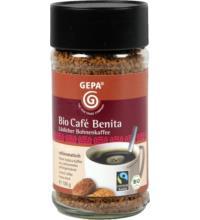 Gepa Café Benita, löslicher Bohnenkaffee,  100 gr Glas