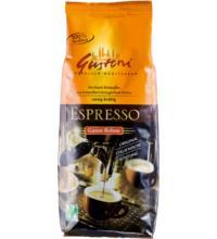 Gustoni Espresso, ganze Bohne,  250 gr Packung