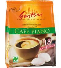 Gustoni Café Piano Kaffee-Pads aus Mexico und Peru (18x7gr), 126 gr Packung
