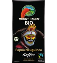 Mount Hagen Fair Trade Röstkaffee Papua Neuginea, gemahlen, 500 gr Packung